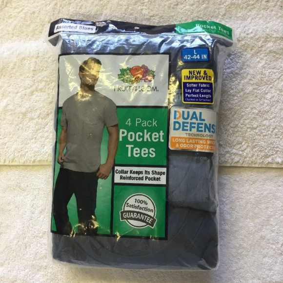 f3e6ee72 Fruit of the Loom Shirts | Mens Pocket Crew Neck Tshirt | Poshmark